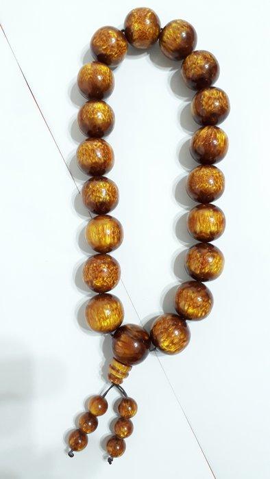 【九龍藝品】金海柳19顆念珠 ~ 珠子約25mm/重量約176公克【 2 】