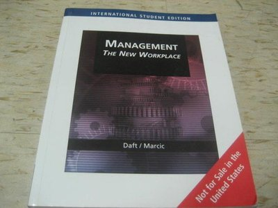MANAGEMENT :THE NEW WORKPLACE>作者:Daft / Marcic / 2007年版/ISBN:0324422040
