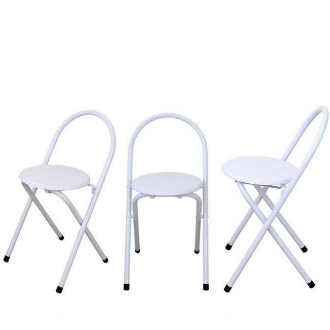 含發票-1入組【免工具全新品】室內外折疊椅-摺疊椅-休閒椅-穿鞋椅-化妝椅-洽談椅-工作椅-萬用椅XR081WF-素雅白