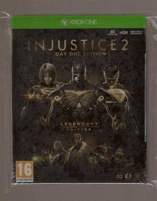 全新XBOX ONE原版片 英文版 超級英雄2 正義聯盟 不義聯盟 INJUSTICE 2 鐵盒版