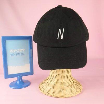 【iSport代購】正韓 流行韓系 限量New Balance 老帽 大N logo可調式 黑 NBGD8F7104BK
