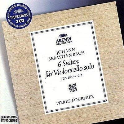 【大花版系列】巴哈:六首無伴奏大提琴組曲 BWV1007-1012 / 傅尼葉(大提琴) --4497112