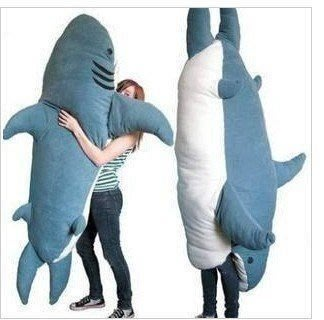 【優上精品】鯊魚來了鯊魚沙發公仔 鯊魚睡袋超大床墊 保暖靠墊榻榻米生日禮物懶(Z-P3217)