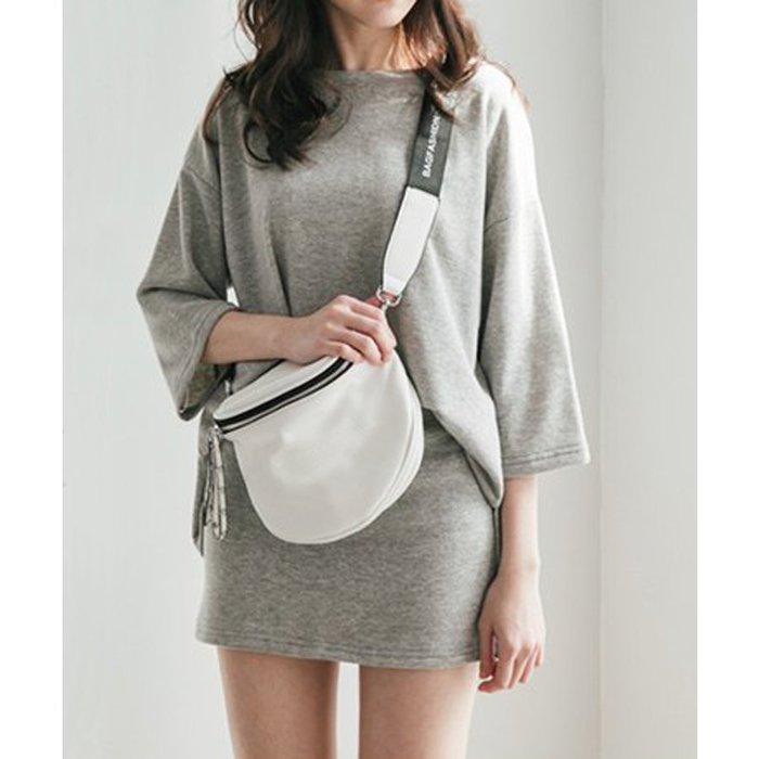 【Hao Da】全館399免運↘「M~XL。現貨」2色 兩件式 圓領上衣 + 鬆緊腰短裙 (P1246)
