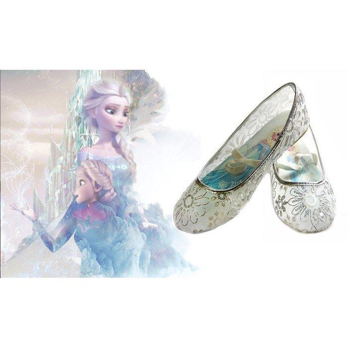 Frozen冰雪奇緣銀線亮片花朵閃亮淑女鞋宴會鞋 Elsa & Anna 的最愛