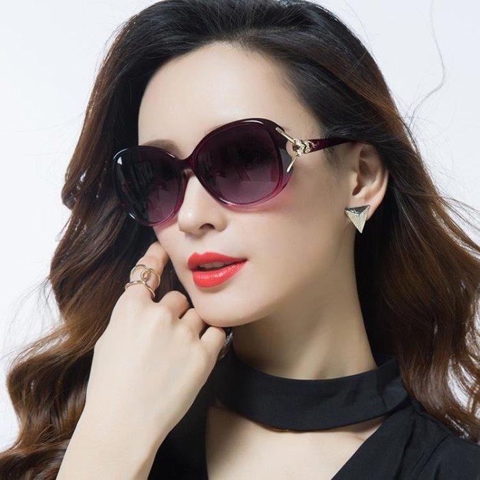 2019新款偏光太陽鏡圓臉女士墨鏡女潮款防紫外線眼鏡大臉優雅