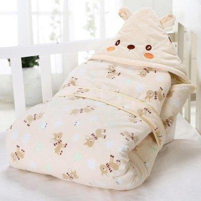 嬰兒抱被新生兒包被春秋冬季純棉初生兒被子寶寶加厚款可脫膽用品