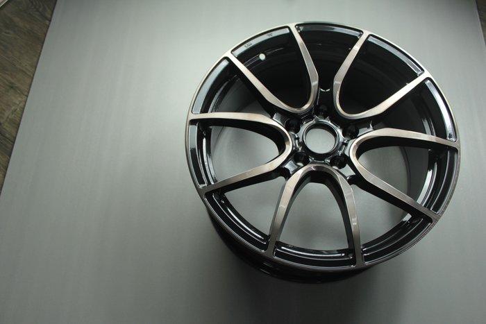 《台灣JGTC》框圈 EP08 黑色車面 黑透明漆 璇壓 尺寸 inch 18 峻亞國際