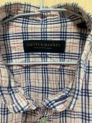 Gives&hawkes 格紋 短袖 襯衫 XL
