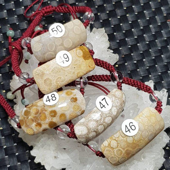 二姐的店 天然 菊花石 珊瑚玉 手鍊 手牌  中國結 設計款 男女款☆特價一條399元 ~h646~650