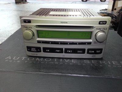 TOYOTA 豐田 MP3 CD 原廠音響主機.非新品..VIOS WISH PREVIA INNOVA