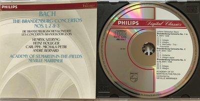 Philips Bach The Brandenburg Concertos Nos. 1 to 3 henryk Szeryng Marriner