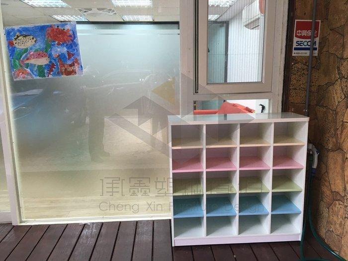 (YHCD-17)20格開放式鞋櫃/塑鋼兒童鞋櫃/學校鞋櫃/學生鞋櫃/小朋友鞋櫃/幼兒坐鞋櫃