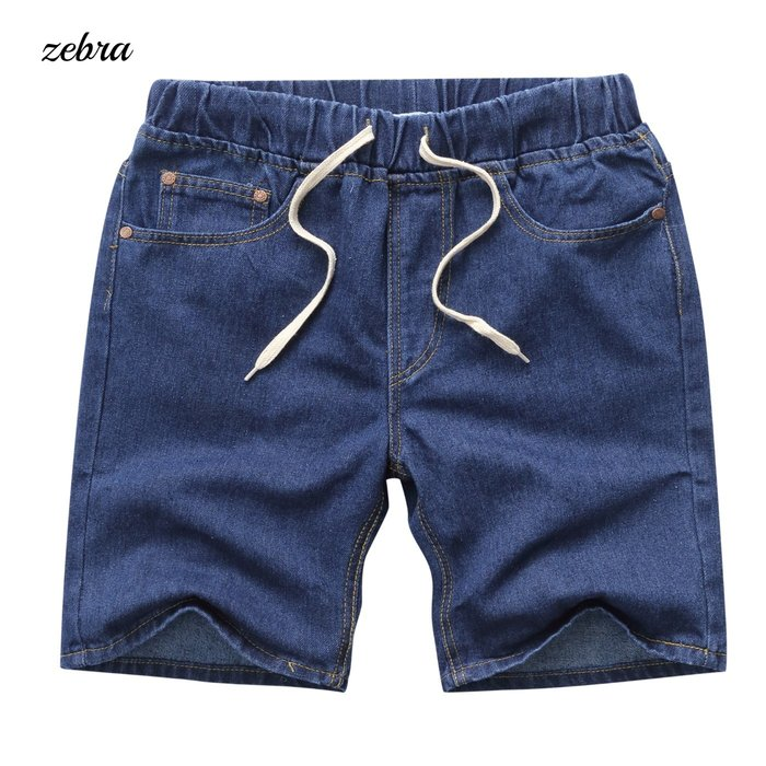 ZEBRA-【FBN4169】日系 韓版  抽繩 五分 膝上 單寧 牛仔短褲 休閒短褲 M/XL 特價 380元