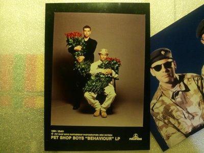 Pet Shop Boys 寵物店男孩1990年Behaviour專輯 台灣EMI科藝百代宣傳照片 只有一張~