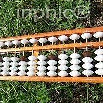 INPHIC-13檔木製算盤 帶清盤器 四邊包角 算盤 學生算盤 珠算算盤