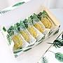 Amy烘焙網:一盒一袋/多邊形綠葉款包裝盒/綠豆糕包裝盒/瑪德琳磅蛋糕費南雪方塊酥餅乾點心盒子