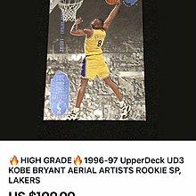 🐍1996-97 UD3 #43 Kobe Bryant