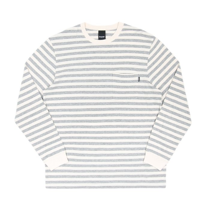 《 Nightmare 》ONLY NY Nautical Stripe Pocket L/S T-Shirt