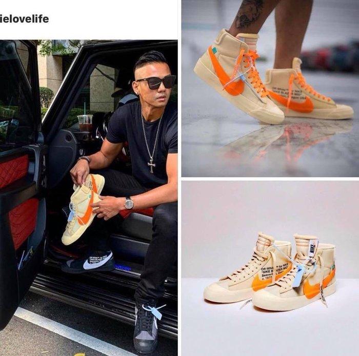 【Cheers】OFF-WHITE x Nike Blazer Mid OW聯名 AA3832-700 橘 米橘 限量 男女鞋