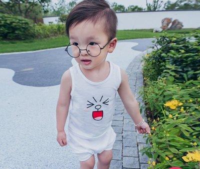 ♥【BS0178XT-6620】韓版男童裝卡通無袖短褲套裝 (紫色 白色 現貨) ♥