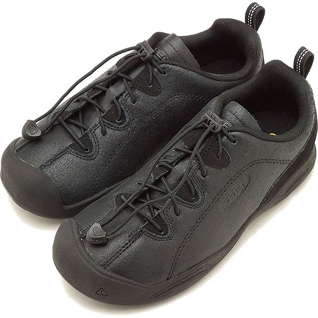 =CodE= KEEN JASPER ROCKS SP 皮革多功能慢跑健行鞋(全黑) 1019681 大童 男女