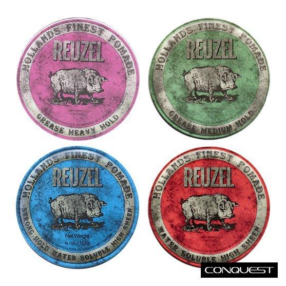【 CONQUEST 】Reuzel 粉紅豬 藍豬 綠豬 紅豬 水洗式髮油 油性髮油 Suavecito O'Douds
