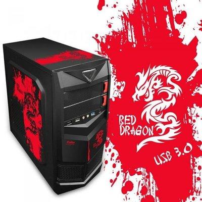☆天辰3C☆中和 鈞嵐 炎龍王 USB3.0 紅色圖騰 二代(ATX) 顯卡長28 2大4小 全黑化 U2+U3