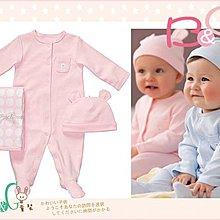 【B& G童裝】正品美國進口Carter's 小熊粉色系3件一組套裝6M(彌月禮)