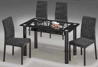 【DH】貨號Q1275B《普爾》4尺強化玻璃造型餐桌˙質感一流˙簡約好搭˙主要地區免運