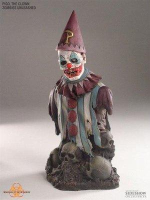 全新 Sideshow 7.5吋 Quarantine Studio Zombie Clown 小丑殭屍胸像