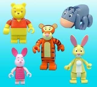 絕版收藏 Yujin Disney 迪士尼 小熊維尼及好朋友1 跳跳虎 粉紅小豬 兔子瑞比 屹耳驢子 積木 全5款