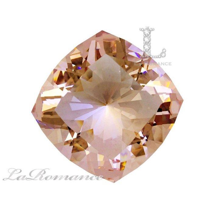 【芮洛蔓 La Romance】璀璨方型水晶鑽 – 粉色 / 粉賺 / 招財 / 招桃花、愛情、人緣