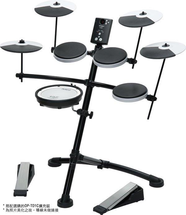 造韻樂器音響- JU-MUSIC - 最新 Roland TD-1KV 初學者 網狀 電子鼓 另有 TD-1K XM