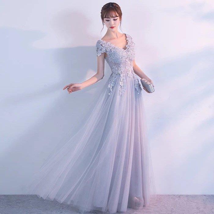大小姐時尚精品屋~~性感v领包肩高貴典雅婚宴修身顯瘦長禮服~3件免郵