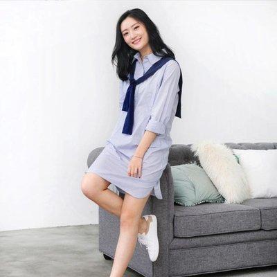 春夏季外出時尚產后哺乳裙韓版長袖外穿哺乳衣服襯衫WY