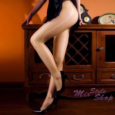 MIX style SHOP【S-007】淨透絲光❤12D油亮T襠透明無痕光澤褲襪/油光彈性絲襪~(4色)