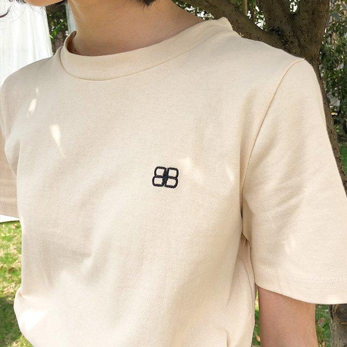 SeyeS 古著街頭休閒刺繡logo短T