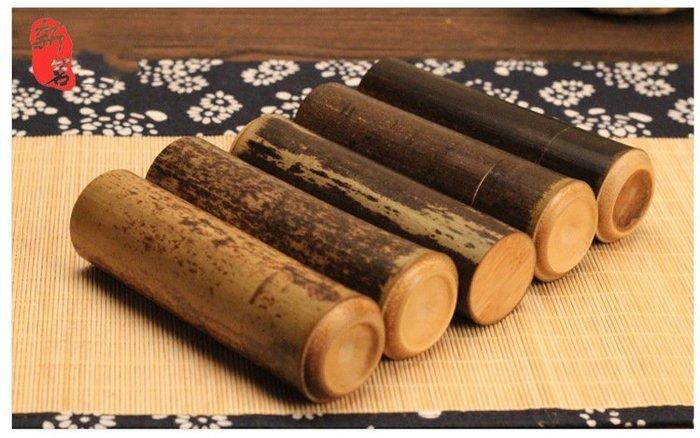 【自在坊】【茶葉筒】茶葉罐 竹製紫竹筒 便攜旅行茶葉罐 密封茶罐 迷你茶葉筒 竹製 竹筒 茶葉桶