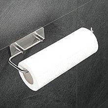 廚房紙巾架 304不銹鋼粘貼免打孔擦手紙廁紙架SH雜貨ER2486