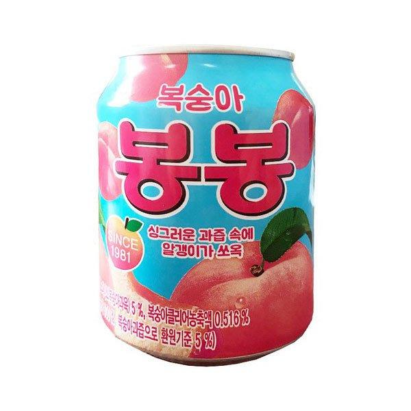 韓國 海太 Haitai 水蜜桃汁 238ml/12罐(盒) 內有果肉【特價】異國精品