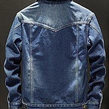 時尚起義男士牛仔寬鬆休閒外套 加絨保暖水洗翻領牛仔夾克 G171