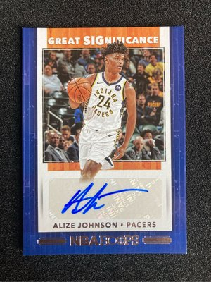 Alize Johnson 2019-20 Hoops Great Significance 阿利茲·強森 籃網板凳暴徒