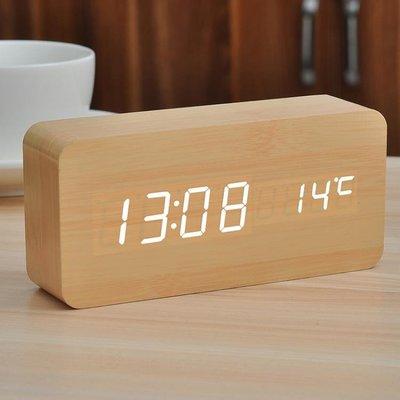 鬧鐘簡約創意學生電子鐘靜音床頭鬧鈴LED多功能時鐘智能座鐘夜光