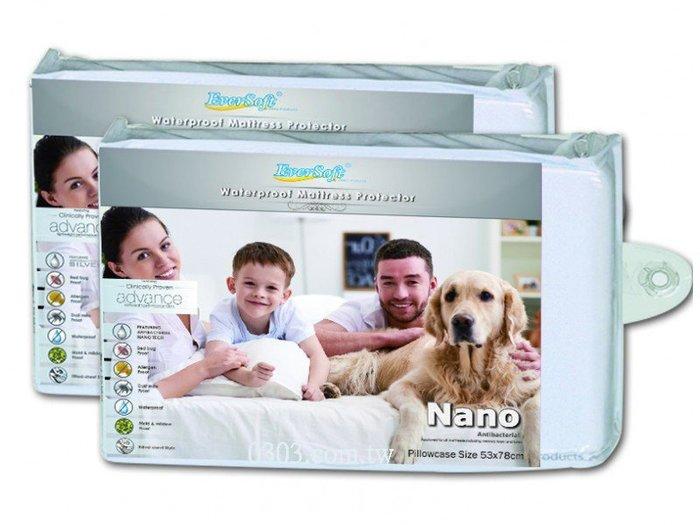 枕頭保潔墊-EverSoft ® 寶貝墊 Nano 奈米抗菌離子防水透氣防螨保潔墊 (一入) (2個免運)