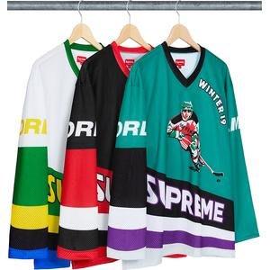 【美國鞋校】現貨/預購 SUPREME FW19 Crossover Hockey Jersey 冰球衣