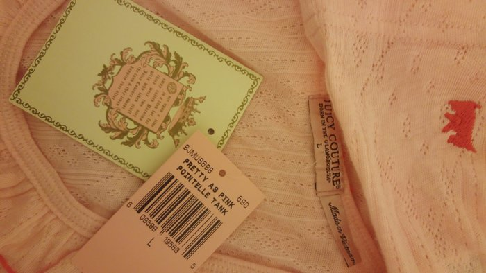 全新吊牌 Juicy Couture 淺粉紅荷葉邊運動風睡衣