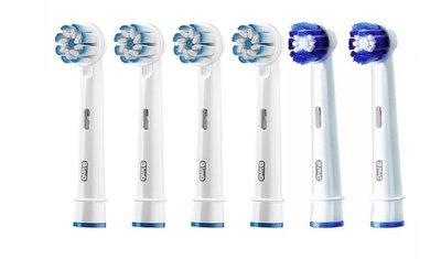 好市多代購-百靈歐樂B電動牙刷刷頭6入組EB60*4+EB20*2
