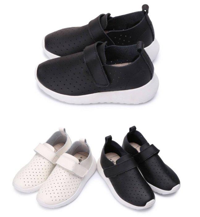 富發牌 男童鞋 33CQ57  藏不住的透氣兒童休閒鞋 (米/黑)(16-22號)~nanakids娜娜童櫥