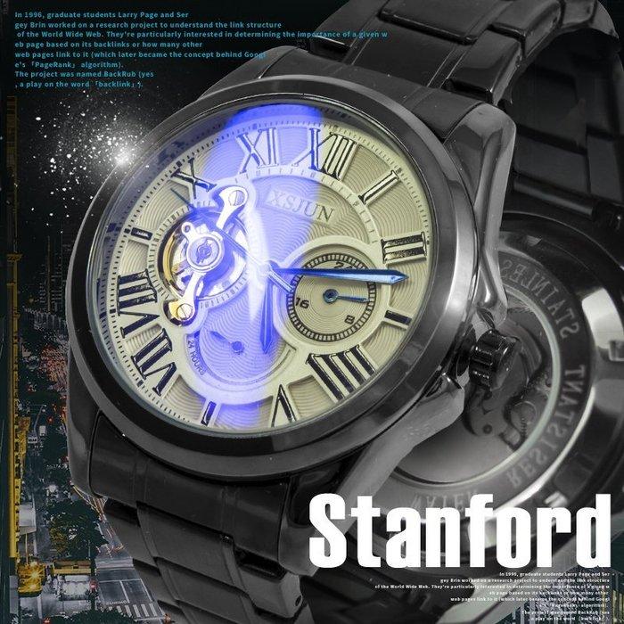 真三眼機械錶XSJUN 幻變藍鏡全自動設計【免運贈盒】 ☆匠子工坊☆【UK0084】